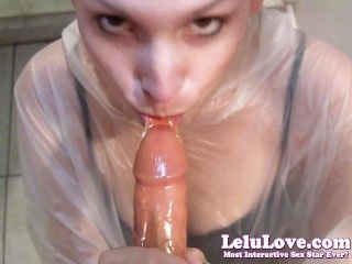 Lelu love poncho preservativo latex glove blowjob