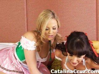 Catalina cruz lésbica sexo ao vivo com alexis texas