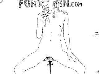 Adolescente quente masturbates em configurações de câmera estranha