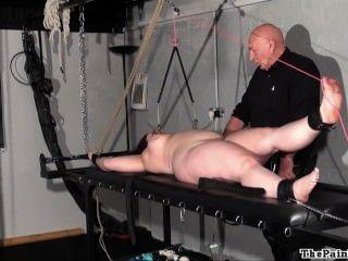 Chubby, tortura, rack, punição, amador, escravo, extremo, bdsm
