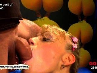 Amante do esperma meli está de volta para a ação mais hardcore bukkake!
