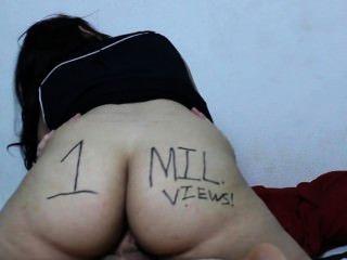 Margarida dabs 1 milhão de vistas especiais: latina saia fuck implora e andorinhas