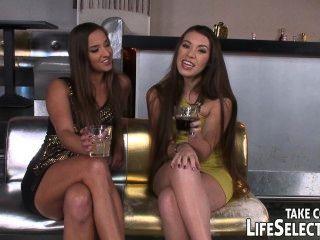 Proprietário do clube shags duas meninas tipsy