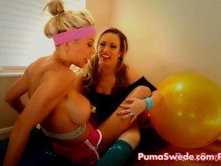 Puma \u0026 carmen lésbica pornstar trabalho fora