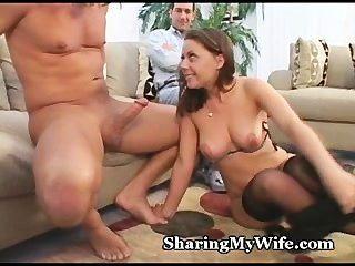 Naughtiness cums fora da wifey