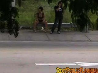 Bestpublicflashing, peeks, miami, autocarro, parada