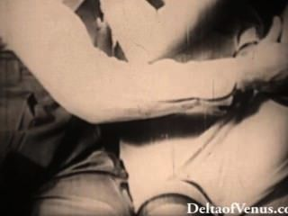 Autêntica antiguidade pornô 1940s blondie fica fodido