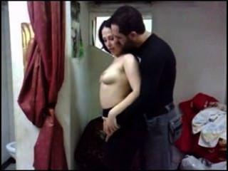 Árabe quente e adorável casal
