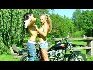 Dildo, perfurando, bicicleta