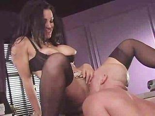 Agente pornô testar a mercadoria