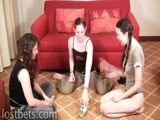 Elizabeth, julie, lírio, jogo, rotação, garrafa