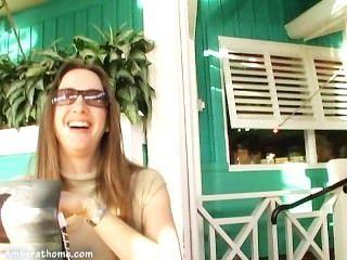 Lynn bach amber brincando com ela mesma em um camarim!