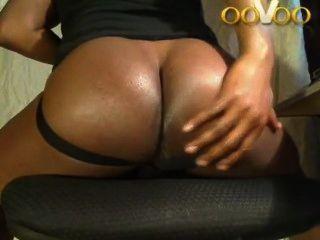 Oovoo webchat mostrando big black ass