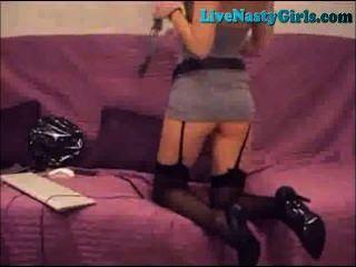 Quente submissa blonde webcam show parte 1