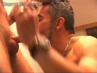 Erótico, striptease, stud, solo, músculo, masturbação, cumshots