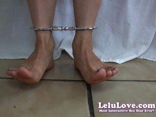 Lelu amor barefoot tornozelo cuffs upskirt