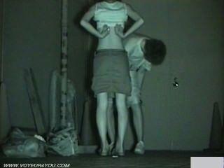 Câmera de infravermelho voyeur sexo público