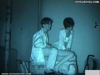 Câmera de infravermelhos voyeur banco parque sexo