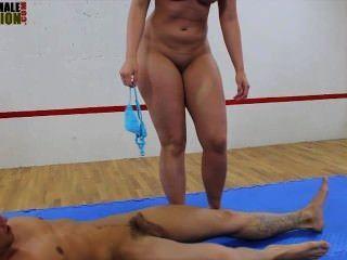 Big butt mistress facesitting mista wrestling