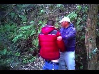 [Espião vídeo] chn urso maduro homem chupar galo