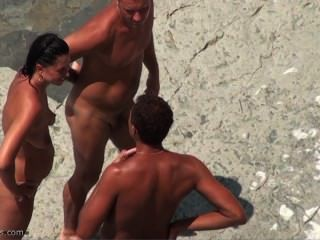 Spycam na praia de nudismo