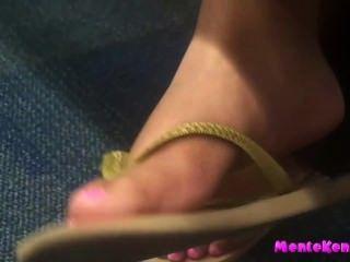Sexy pés e soles cândido