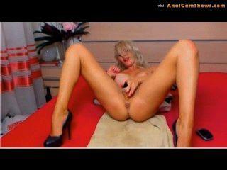Amador angela coloca dildo na buceta na cam