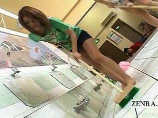 Legendado japonês av estrela duo limpa bathhouse nua