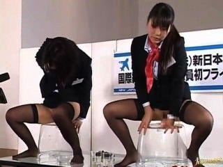 Demonstração fodendo do piloto de vôo japonês