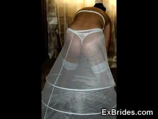 Upskirts reais das noivas!