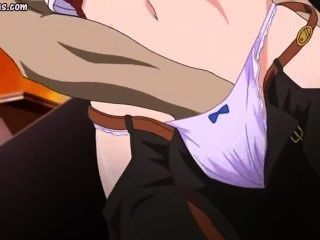 Hentai fica esfregado e fodido por cara feio