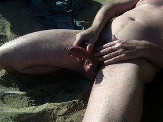 Grande show de galo escocês na praia