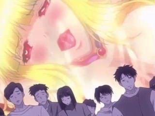 [Falara ♥ hentai] donzela loira é violada em monster gangbang
