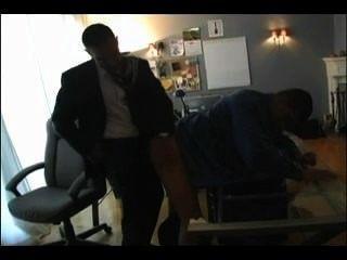 Hot dad fucks boy in office
