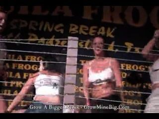 Tequila rã s primavera quebra concurso camiseta molhada