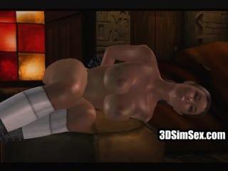 Sexo interracial 3d