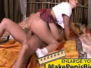 Naughty schoolgirl quer pussy fodido
