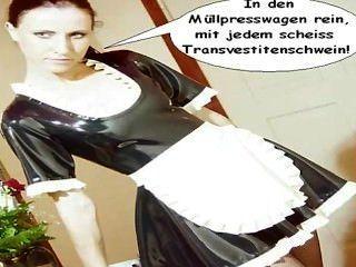 Látex maid natalie vai scheiss transvestitenschweine im müllpresswagen ...