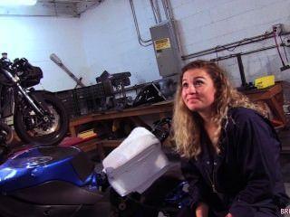 Oceanside, motocicleta, mecânico, suga, marines, galo, loja