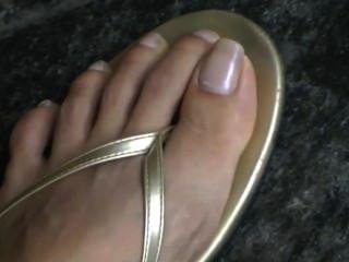 Sincero, pés, exterior, fim, cima