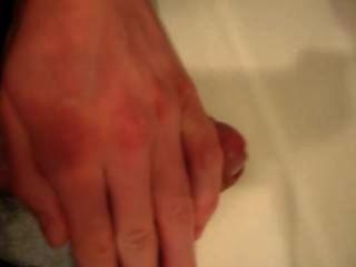 Meu pênis ejaculando depois de foder em uma vagina simulada