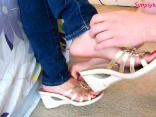 Laura novo slideoff sapatos cócegas