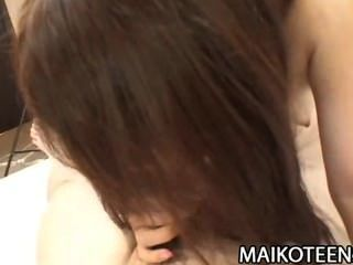 Shiori shimizu peludo pussy japão adolescente aprendizagem galo montando