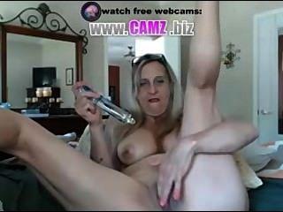 Vovó quente com webcam dildo de camz.biz