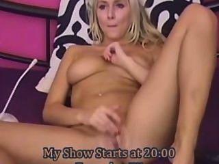 Blonde beleza menina hot webcam show