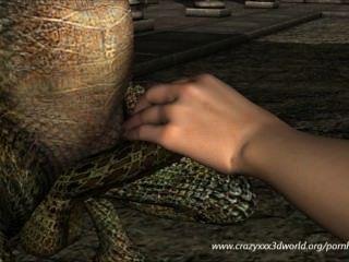 Animação 3d: fada e dragão