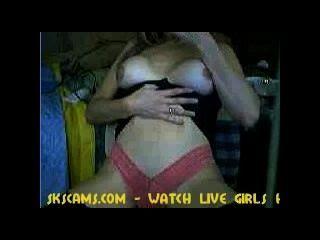 Webcam girl dando um show de sexo
