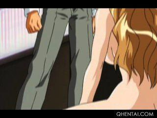 Escrava sexo hentai obtém seu bichano adolescente brutalmente pregado