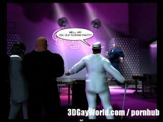 Orgia pública louca no clube gay 3d banda desenhada gay ou história dos desenhos animados do anime