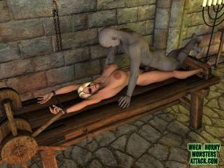 Quando monstros tesão ataque compilação vídeo de 3d monster clips pornô